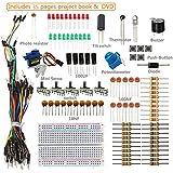 SunFounder Sidekick Basic Starter Kit w/ Breadboard, Jumper wires, Color Led, Resistors, Buzzer For Arduino UNO R3 Mega2560 Mega328 Nano