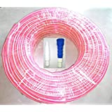 Tuscon 0.5 Inch 15 Meter Pink PVC Pipe With Connector And Adapter