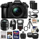 Panasonic-Lumix-DMC-G85-4K-Wi-Fi-Digital-Camera-12-60mm-Lens-45-150mm-Lens-64GB-Card-Battery-Backpack-Tripod-Flash-TeleWide-Lens-Kit