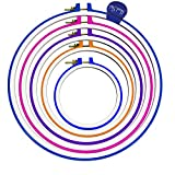 Handi-stitch 5 Piece Hand Embroidery, Quilting and Cross Stitch Hoop Set - 5 Inch to 11 Inches (Sizes 11.2