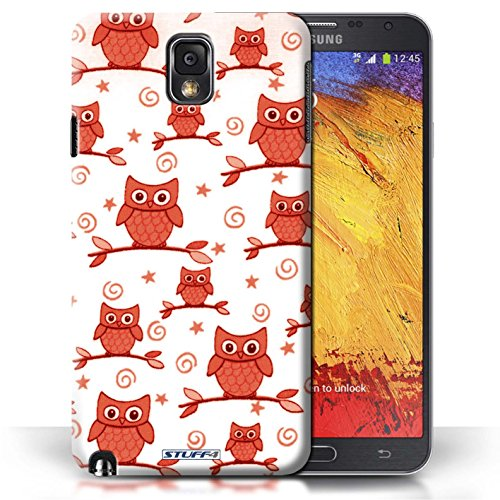Stuff4 Phone Case / Cover For Samsung Galaxy Note 3 / Red/White Design / Cute Owl Pattern Collection / By Deb Strain / Penny Lane Publishing, Inc.