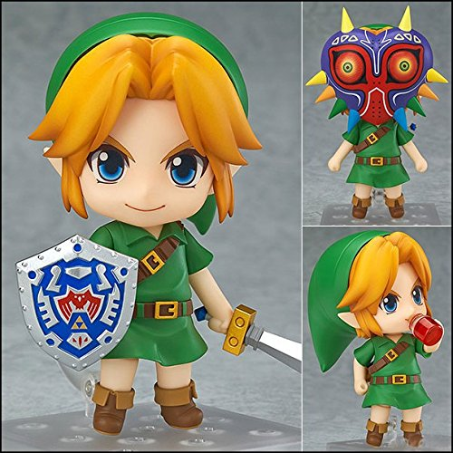 "Cute Nendoroid The Legend of Zelda Link Majora's Mask 3D Ver. #553 PVC Action Figure Collectible Model Toy 4"" 10cm KT228"
