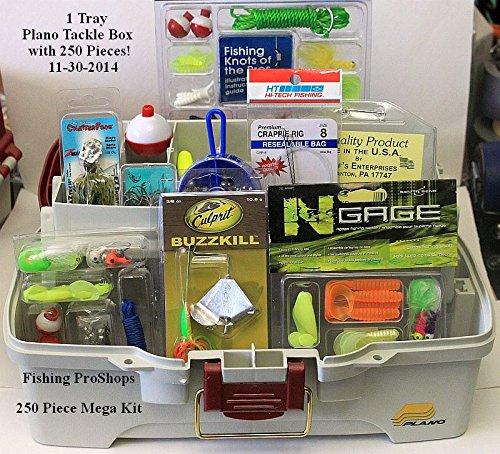 Plano Single Tray Tackle Box - W/Mega 250 Piece