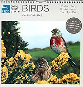 RSPB Calendar Bird Calendar 2015 Illustrated by Ian Kent Limited Edition 100 signed by Ian Kent