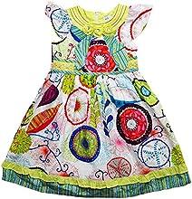 My Queenie Little Girl Floral Cotton Sun Dress