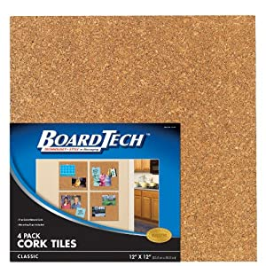 Cra-Z-Art Classic Cork Tiles, 12x12 Inches, Pack of 4 (12121)