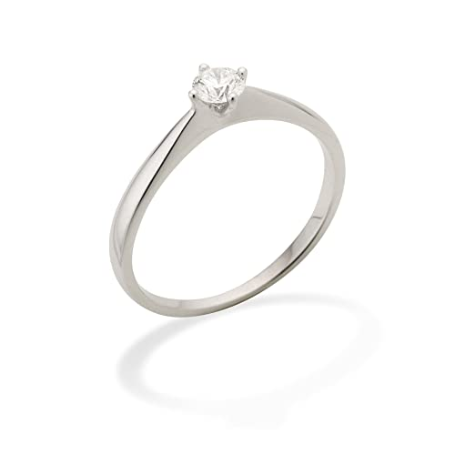 Miore 0.25ct G/VS Round Brilliant Certified Diamond Solitaire Engagement Ring in 18ct White Gold
