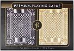 Black & Gold Premium Plastic Playing...