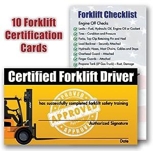 free forklift license template download