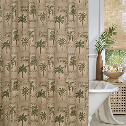 Shower Curtains For Your Home Palm Tree Shower Curtains For A Lush Bath