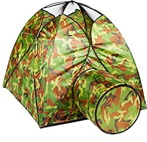 Lily & James Toys Kid's Play Tent, Camouflage
