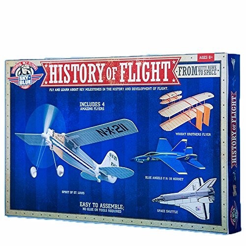 Be Amazing! Toys Sky Blue Flight History of Flight Model Kit (Wright Brothers Model Airplane compare prices)