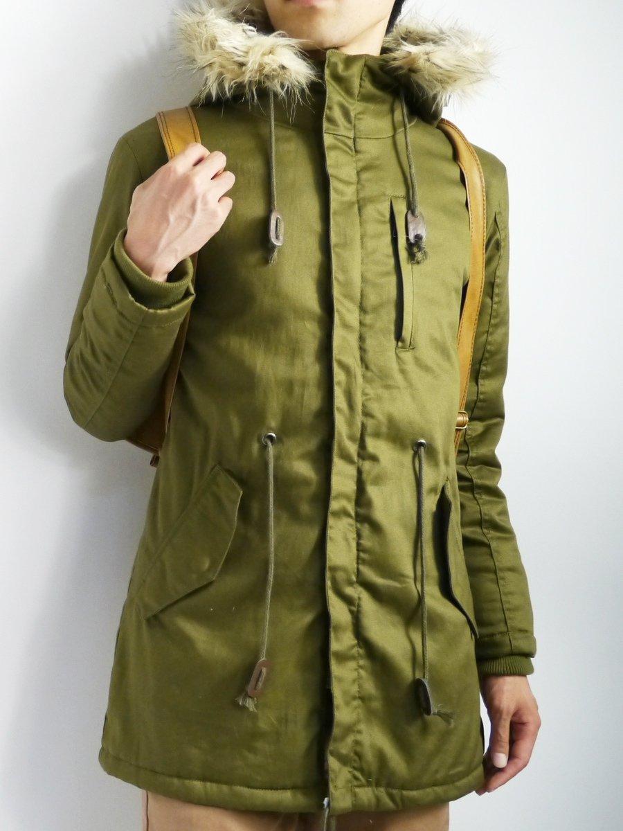 (モノマート) MONO-MART 4color モッズコート ロング メンズ ミリタリー ファー付き フライトジャケット