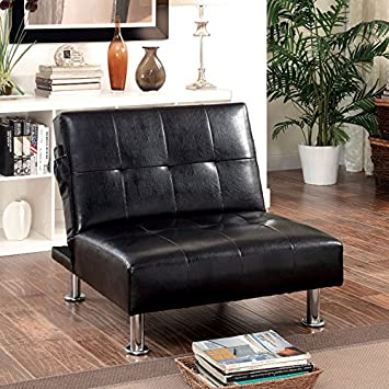Murchin Studio Convertible Chair with Leatherette Seat