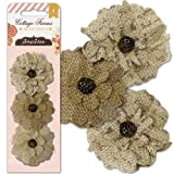 Pink Paislee Cottage Farms Burlap Flowers
