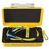 eTayson Fiber Optic OTDR Launch Cable Box G652D Singlemode 9/125 SC/UPC-SC/APC Connector Dead Zone Eliminator Fiber Box (2000M) (Tamaño: 2000M)