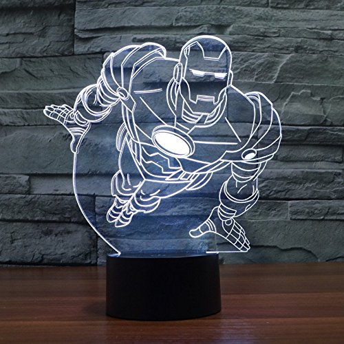 Ironman Night Light 3D LED Illusion