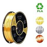 PLA Filament 1.75mm Silk Gold, ERYONE Silky Shiny Filament PLA 1.75mm, 3D Printing Filament PLA for 3D Printer and 3D Pen, 1kg 1 Spool (Color: A-Gold)