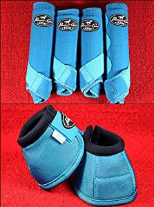 Blue Medium Professional Choice Sports Medicine Horse Boots Bell Ventech Elite by HILASON