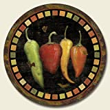 Lazy Susan (wood) ~ Cantina Peppers ~ 13.5 inches diameter ~ code 045 [Kitchen]