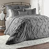 Lush Decor Lux 6-Piece Comforter Set, King, Gray