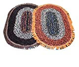 Online Quality Store Stylish Door mats cotton set of 2 (Multi, Reversible,Cotton,16*24)