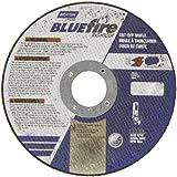 "Norton Blue Fire Large Diameter Reinforced Abrasive Cut-off Wheel, Type 01 Flat, Zirconia Alumina and Aluminum Oxide, 5/8"" Arbor, 10"" Diameter x 3/32"" Thickness  (Pack of 1)"