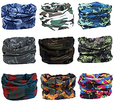 Kingree Outdoor Multifunctional Sports Magic Scarf (9 Piece)