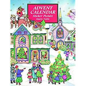 Advent Calendar Sticker Picture Book (Dover Sticker Books)