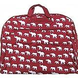 Elephant Print Garment Bag Travel Luggage Alabama Roll Tide Bama