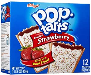 Kellogg's Pop Tarts Frosted Strawberry, 22 oz