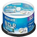 日立マクセル 録画用 BD-R 標準130分 4倍速 ワイドプリンタブルホワイト 50枚スピンドルケース BRV25WPE.50SP