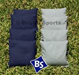 Cornhole Bags Set - 4 Gray & 4 Navy Blue