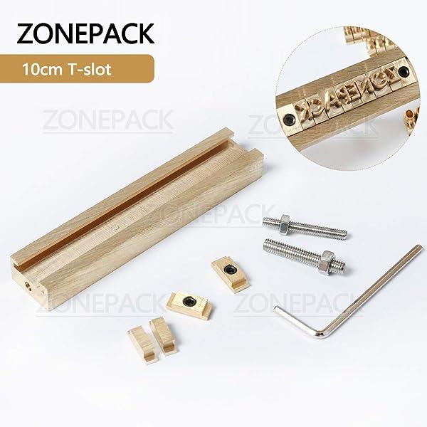 ZONEPACK Copper Brass Stamping Flexible Alphabet Number Symbol Character Stamp Mold Die, Letter Holder, Positioning Plate DIY for Hot Foil Stamping Machine (10cm T-Slot) (Color: 10cm T-slot)