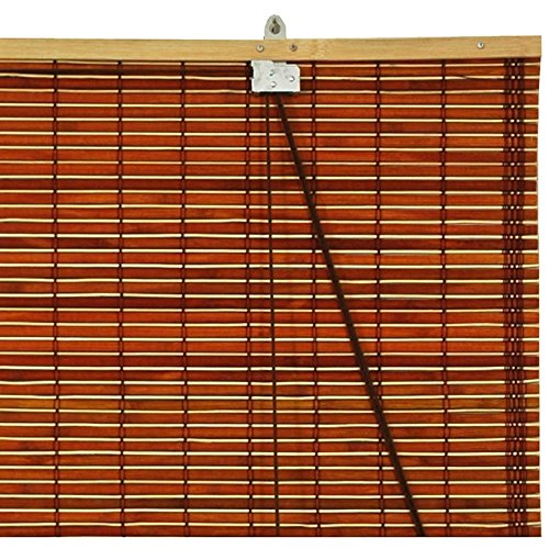 oriental furniture burnt bamboo roll up blinds mahogany 72 in x 72 in home garden decor. Black Bedroom Furniture Sets. Home Design Ideas