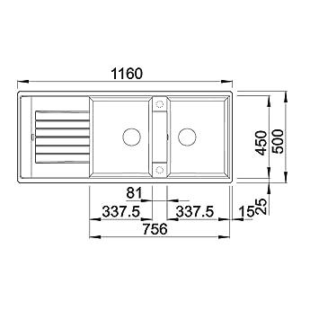 blanco zia 8 s silgranit puradur ii sp le becken. Black Bedroom Furniture Sets. Home Design Ideas
