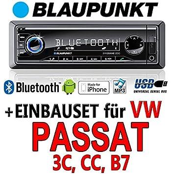 VW passat 3C/b7/cC-bLAUPUNKT brisbane 230/mP3/uSB avec kit de montage autoradio avec bluetooth