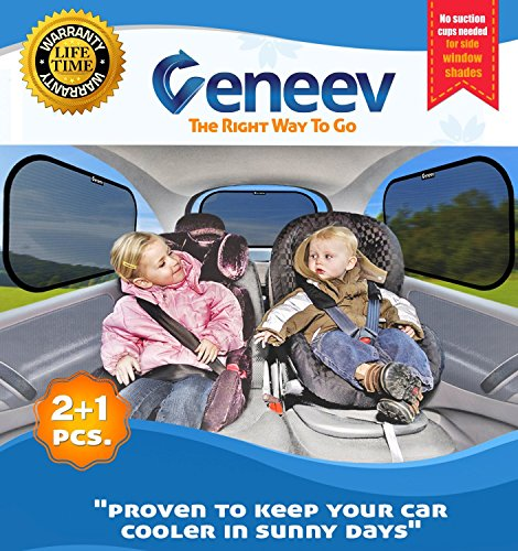 Veneev Car Sun Shade for Side and Rear Window - (3 Pack) (Baby Car Window Shade compare prices)