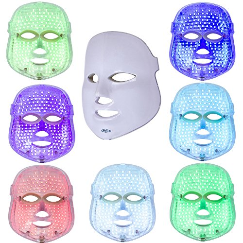 LED Light Therapy Face Mask (Red, Blue, Green + 4 more) For Anti Aging, Wrinkles & Skin Whitening