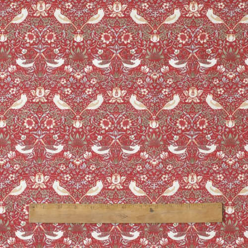 1-metre-of-licensed-william-morris-red-strawberry-thief-100-cotton-floral-fabric