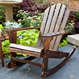 Torched Adirondack Rocking Chair Color - Torched Brown