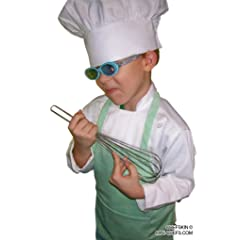 CHEFSKIN CHEF SET Kids Children Chef Jacket + Apron +Hat  EXCELLENT COSTUME FOR HALLOWEEN CHRISTMAS SCHOOL OR PLAY