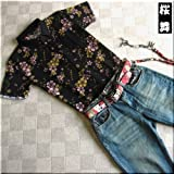 mts154 和柄 ポロシャツ 桜 総柄【3色】メンズ 半袖 Tシャツ 半袖Tシャツ