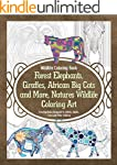 Wildlife Coloring Book Forest Elephan...