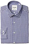 Ben Sherman Mens BlueBurgundy Gingham Slim-Fit Oxford Shirt