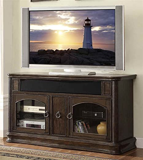 62 in. Premium TV Cabinet in Black Licorice Finish