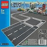 Lego City 7280 - Jeu de Construction - Plaques De Route-Ligne Droite Et Carrefour