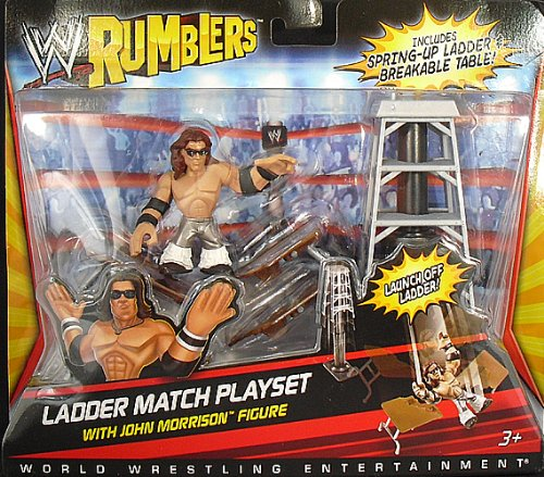 Buy Low Price Mattel JOHN MORRISON W/ LADDER MATCH ACCESSORIES – WWE RUMBLERS WWE TOY WRESTLING ACTION FIGURE (B004Y6MPEA)