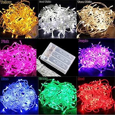 LED Bulbs String Fairy Lights with Steady On and Twinkling Modes,Waterproof, Decoration for Christmas, Xmas, Party, Wedding