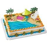 Beach Chair and Umbrella DecoSet Cake Decoration
